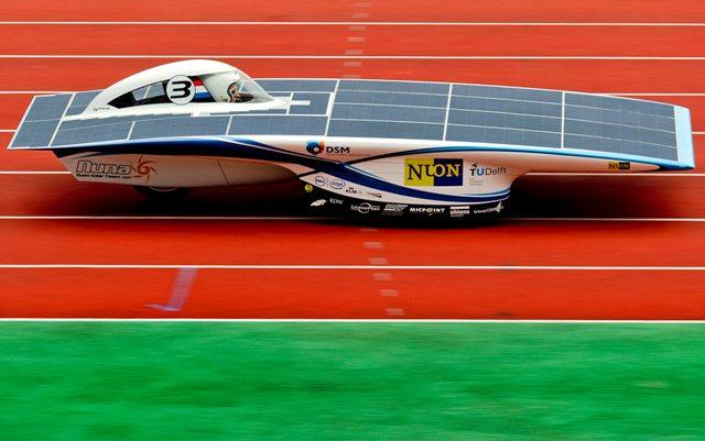 Carro de corrida solar UC Barkeley Califórnia out 2015